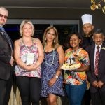 Jaco Fourie, Chantal Anley, Allison Ekstrand, Athabile Ketsiwe, Chef Eddie Dorasamy and Daya Moodley